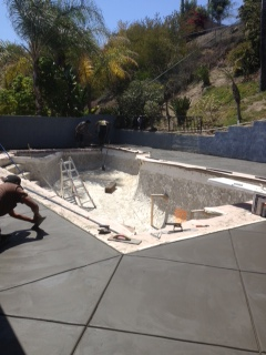 Concrete around a Pool