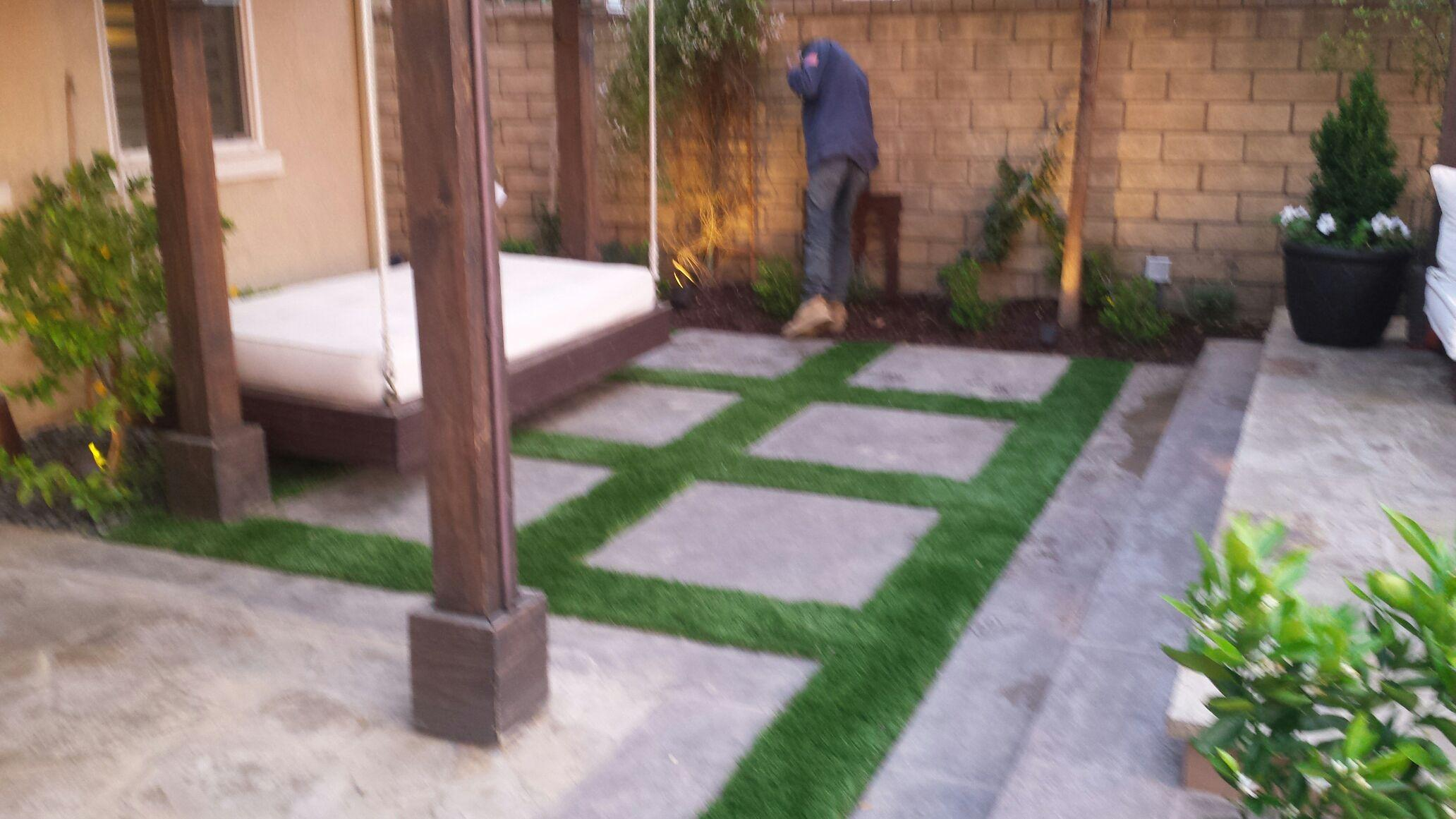 Artificial turf finishing touched