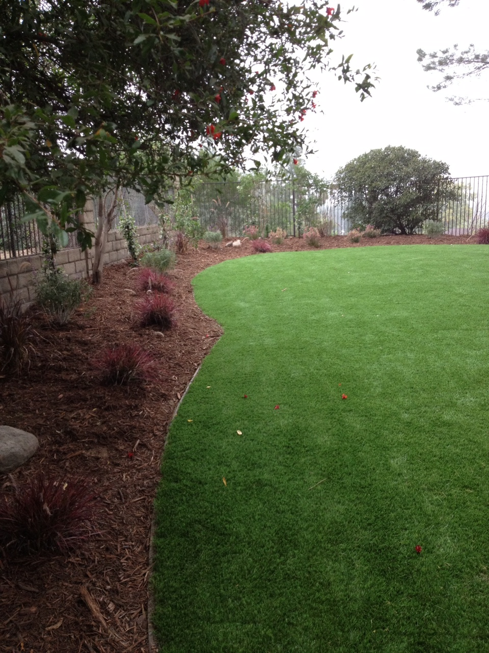 Artificial turf install process - finished