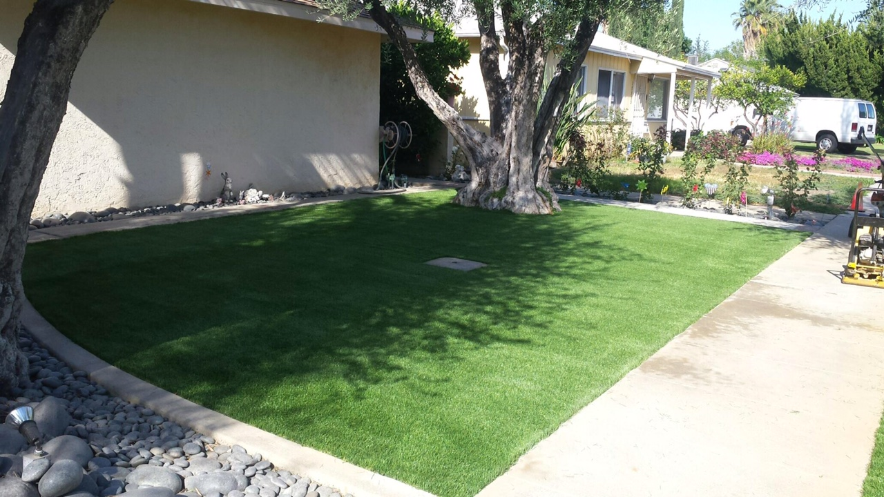 Artificial turf nice side yard