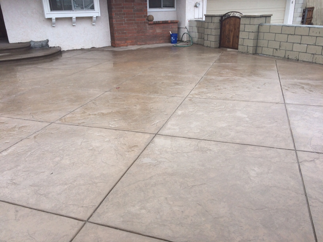 Concrete landscaping finished!