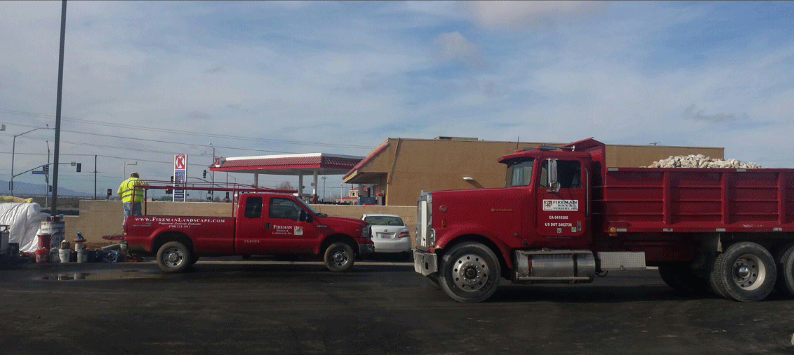 Our big red trucks