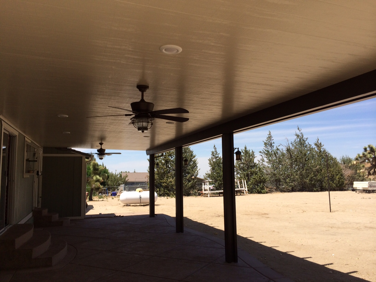 Patio covers by Fireman Landscape