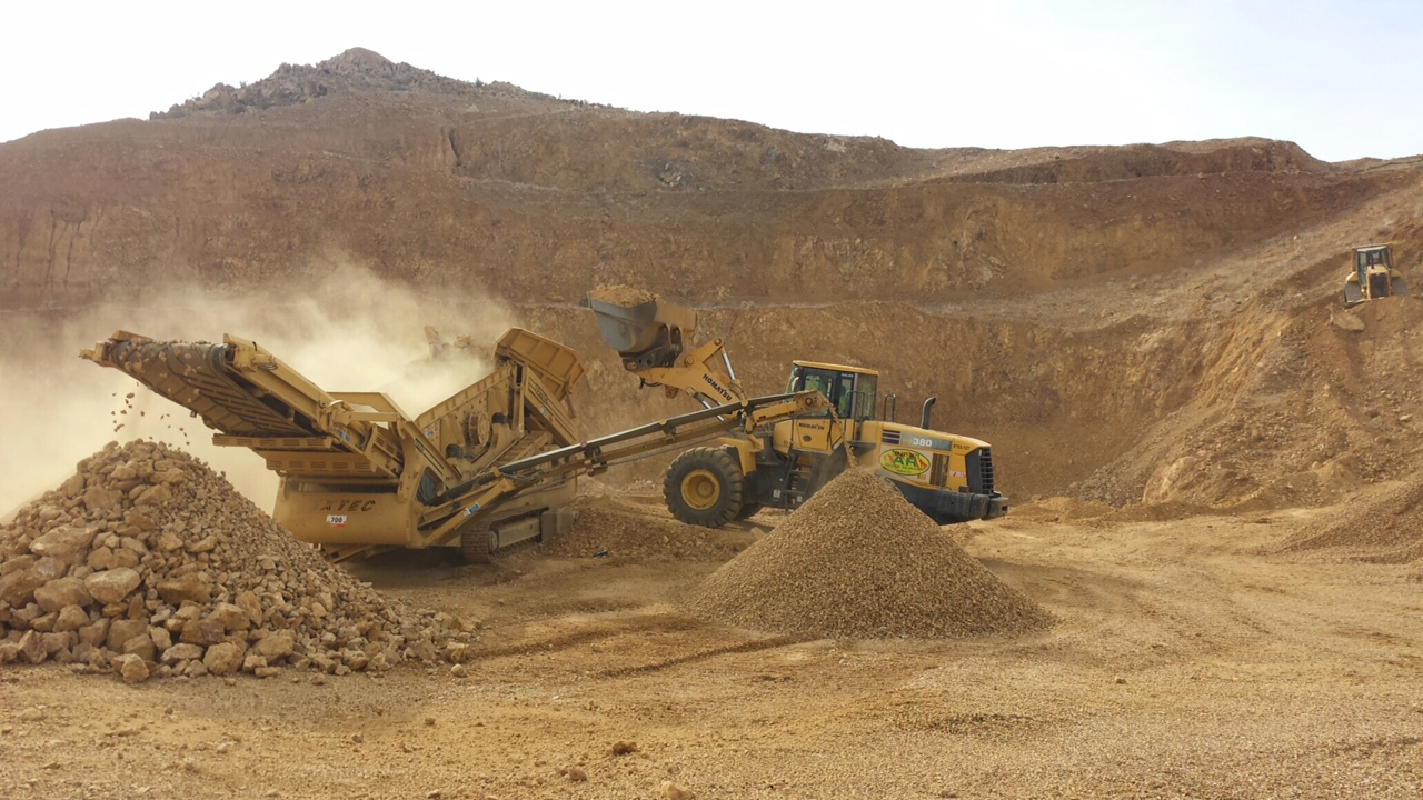 The Rock Quarry - men at work