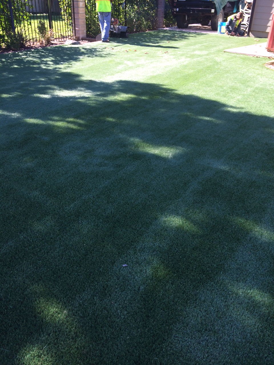 Turf install finish! Beautiful isn't it?